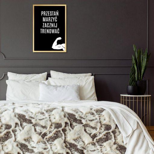 Czarny plakat motywujący do pokoju nastolatka