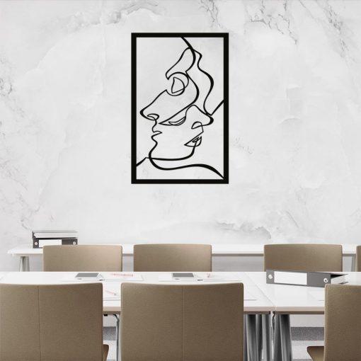 Przestrzenna ozdoba na ścianę z line-art