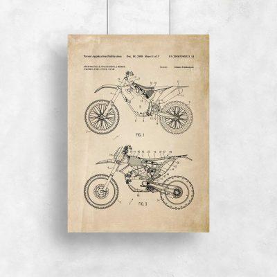 Plakat prototyp motocykla crossowego - patent 2008r.