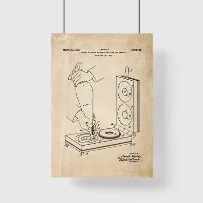 Plakat kuchenny z piecykiem do pieczenia pączków