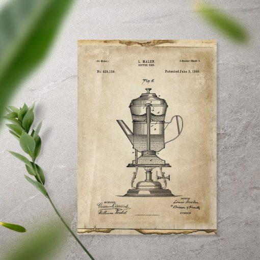 Plakat prototyp kawiarki - patent 1890r.