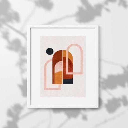 Plakat z motywem kropki i okien do powieszenia w poczekalni