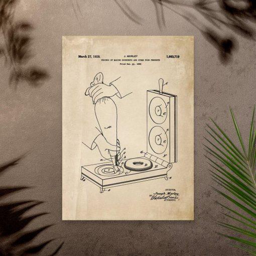 Plakat z licencją urządzenia cukierniczego