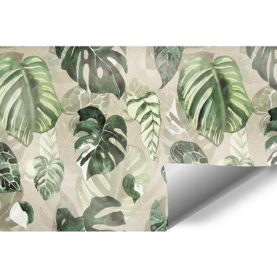 Fototapeta z zielonymi liśćmi do przedpokoju
