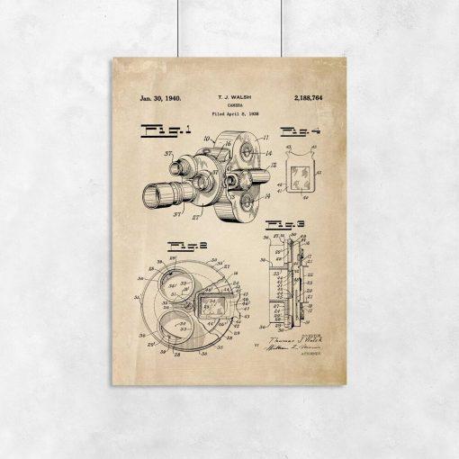 Plakat patent kamery filmowej