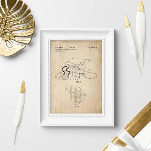 Plakat z patentem na urządzenie medyczne pierwszej pomocy
