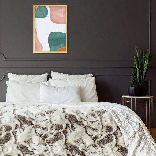 Pastelowy plakat z abstrakcją do sypialni