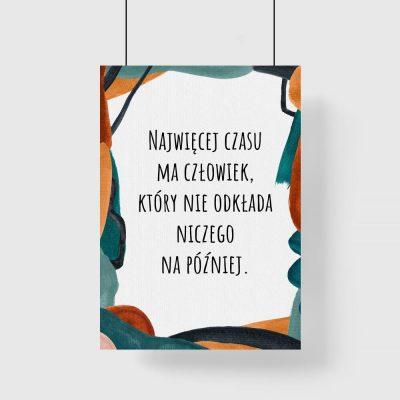 Plakat abstrakcyjny z sentencją dla kobiet