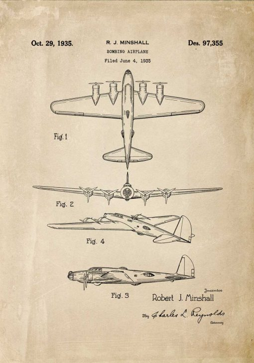 Patent na samolot bombowy - poster