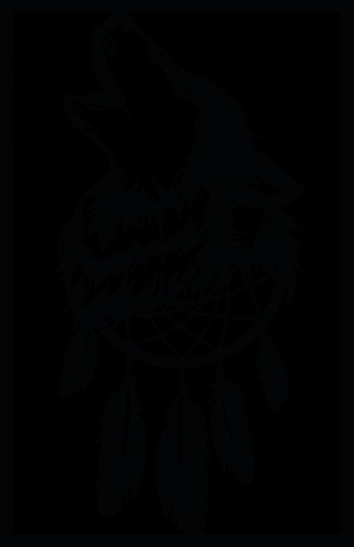 Ażurowa dekoracja ścienna z wilkiem
