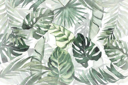 Foto-tapeta tropikalne liście o zielonej barwie