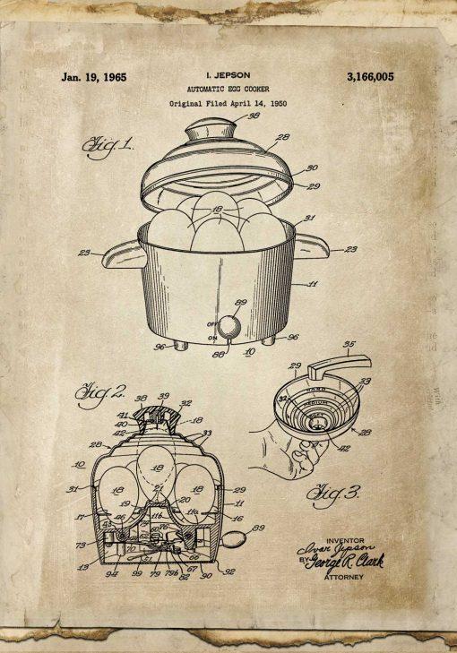 Plakat prototyp automatu do gotowania jajek