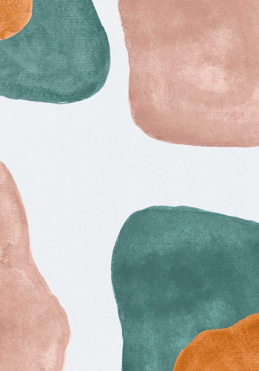 Pastelowy plakat z abstrakcją dla dziewczyny