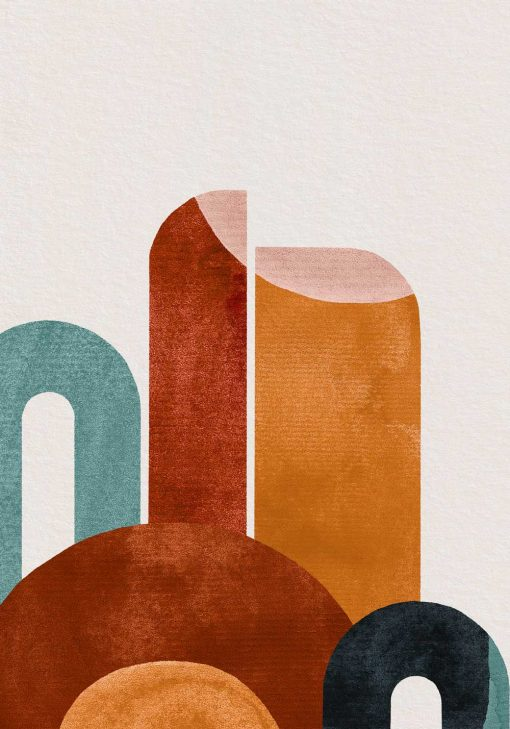 Plakat abstrakcyjne figury