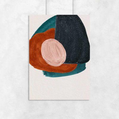 Plakat w plamy abstrakcyjne
