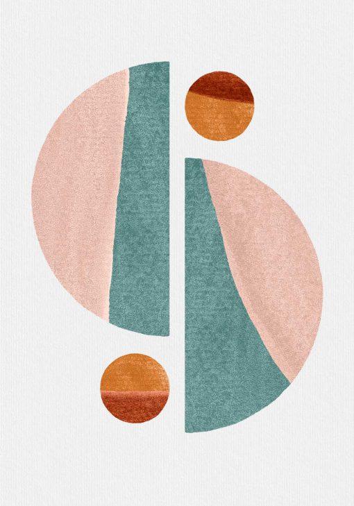 Plakat z kolekcji brył geometrycznych
