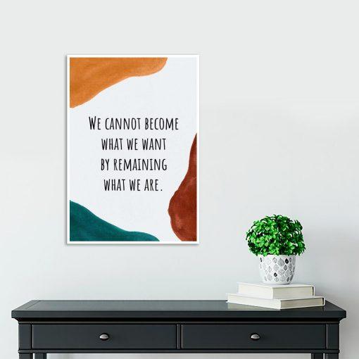 Plakat z abstrakcją i napisem do gabinetu