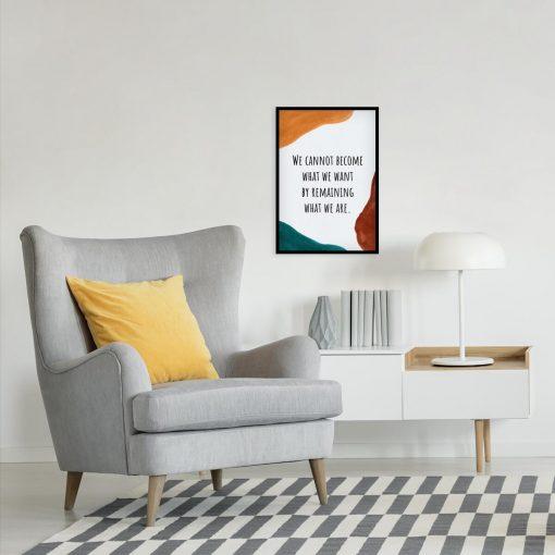 Plakat z abstrakcją i napisem do czytelni