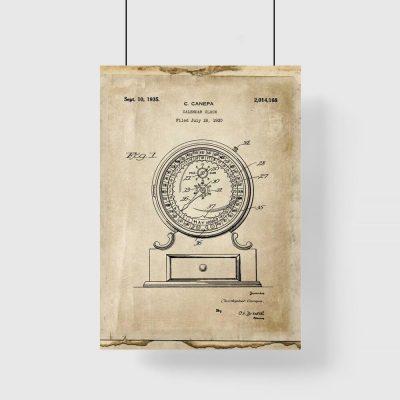 Plakat z kalendarzem mechanicznym