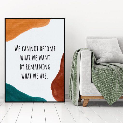 Plakat z abstrakcją i napisem do salonu