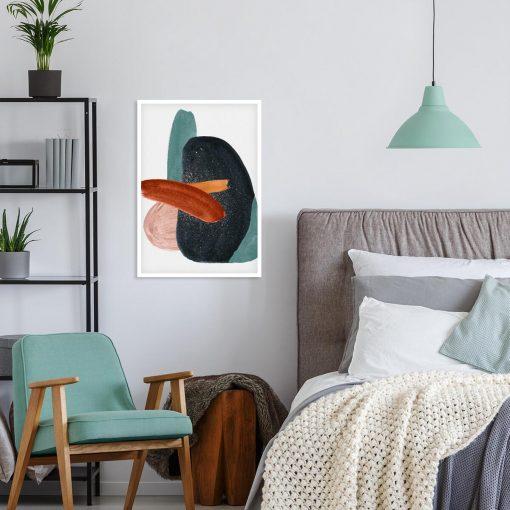 Plakat z imitacją akwareli do sypialni