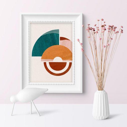 Plakat z kształtami geometrycznymi