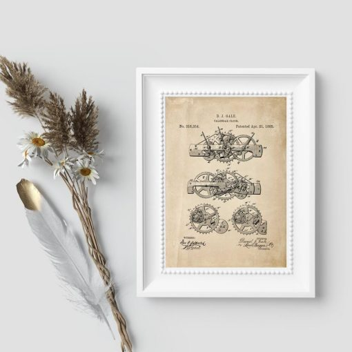 Poster z ryciną na kalendarz ruchomy