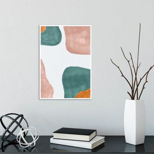 Pastelowy plakat z abstrakcją do przedpokoju