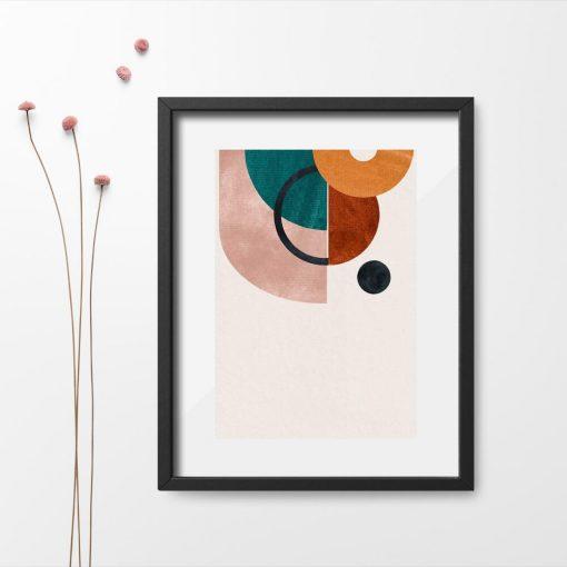 Plakat z foremnymi kształtami