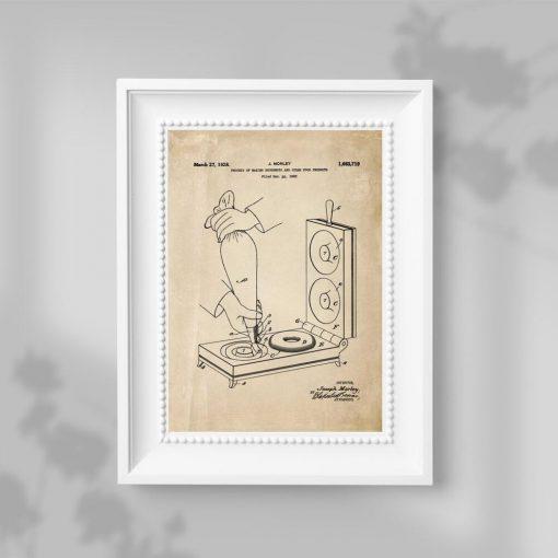 Plakat z projektem maszynki do smażenia pączków