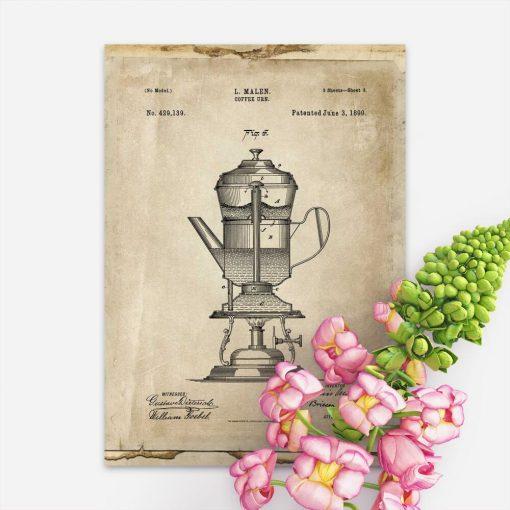 Plakat projekt kawiarki 1890r.