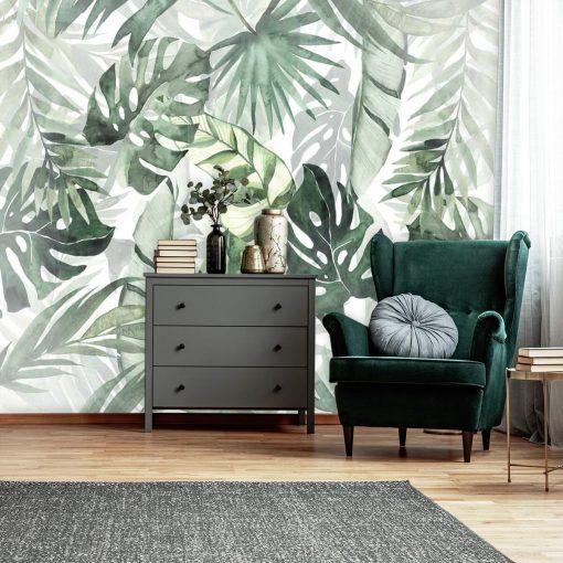 Foto-tapeta palmowe liście w zielonym kolorze
