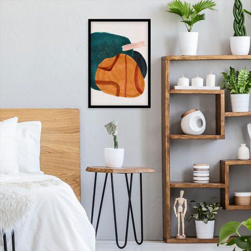 Plakat z akwarelowymi plamami do sypialni