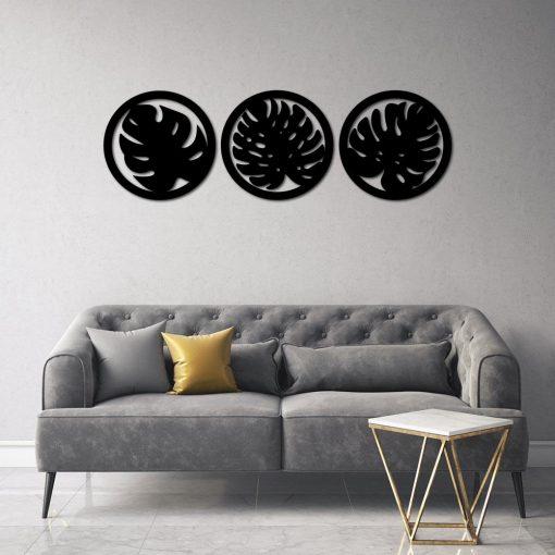 Zestaw trzech okrągłych ornamentów 3d