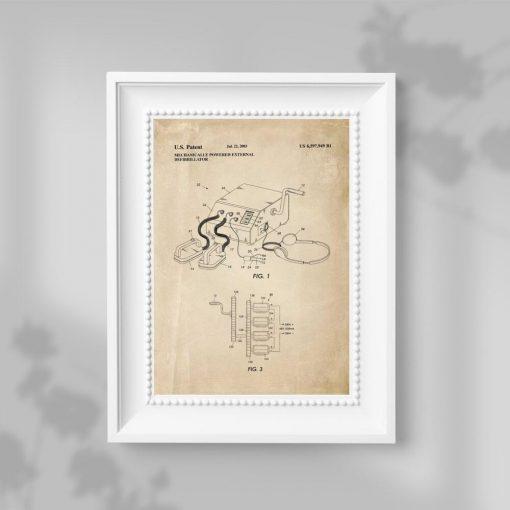 Plakat z rysunkiem patentu na urządzenie medyczne - 2003r.
