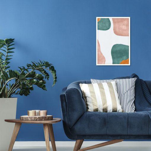 Pastelowy plakat z abstrakcją do salonu