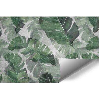 Foto-tapeta do salonu z tropikalnymi liśćmi
