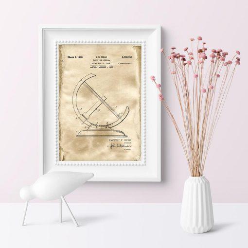 Poster - Patent na zegar słoneczny do sypialni