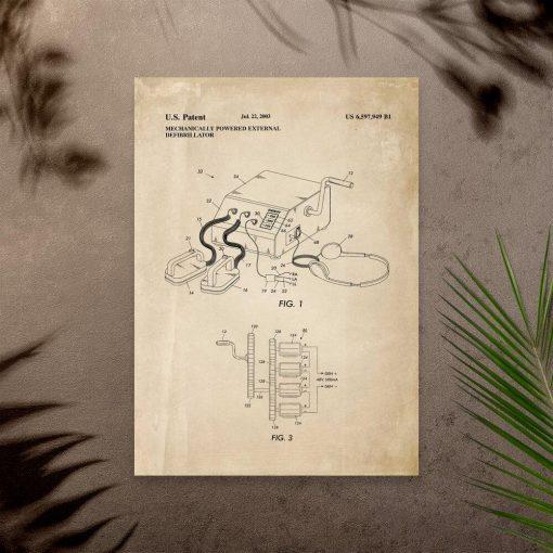 Plakat z urządzeniem medycznym pierwszej pomocy - patent