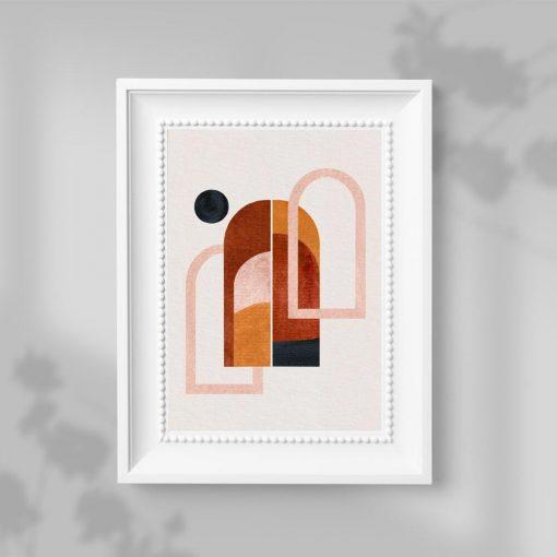 Plakat trzy okna i czarna kropka na ścianę do biura