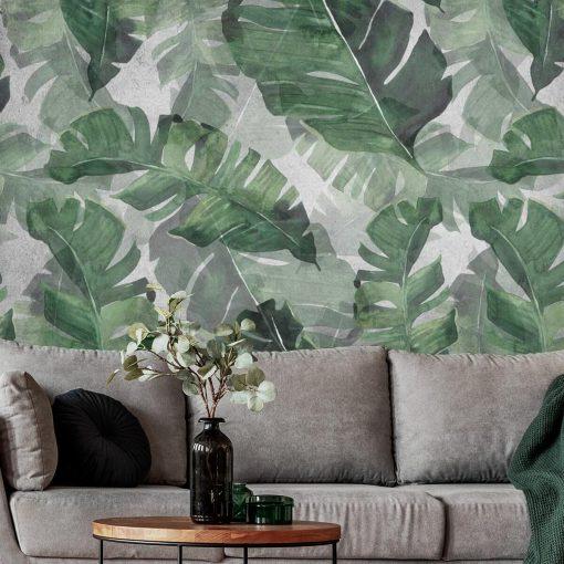 Fototapeta liście egzotyczne do upiększenia sypialni