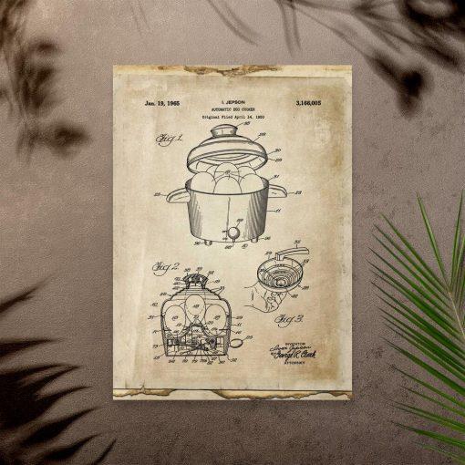 Plakat ze świadectwem produkcji automatu do jajek