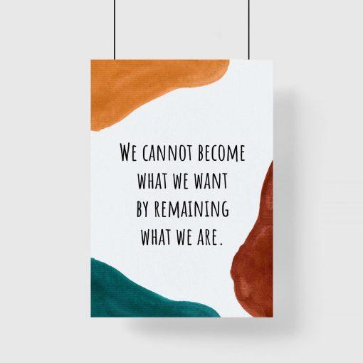 Plakat z abstrakcją i napisem dla młodzieży