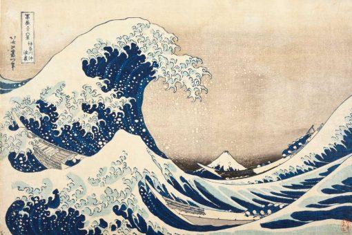 Fototapeta inspirowana obrazem Hokusai