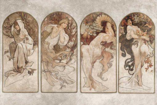 Tapeta z reprodukcją dzieła Alfonsa Muchy