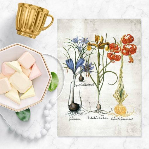 Kolorowy plakat z motywem kwiatowym