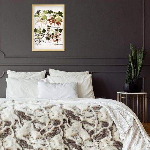 Plakat boho z porzeczkami do sypialni
