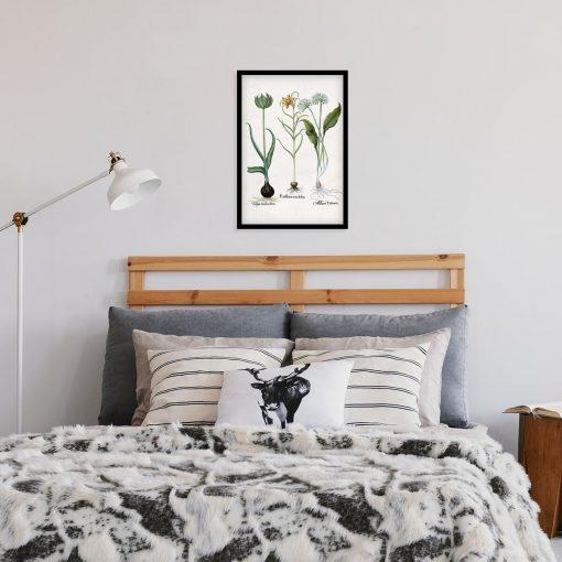 Plakat z kwiatem szachownicy cesarskiej do sypialni