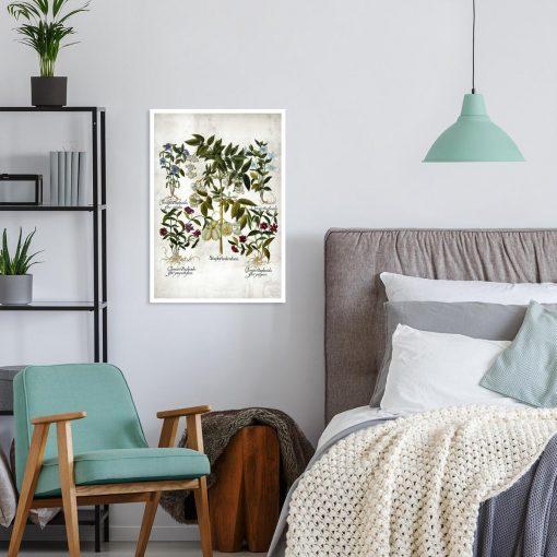 Plakat z kwiatkami dla florysty do sypialni