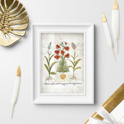 Plakat z motywem roślinnym